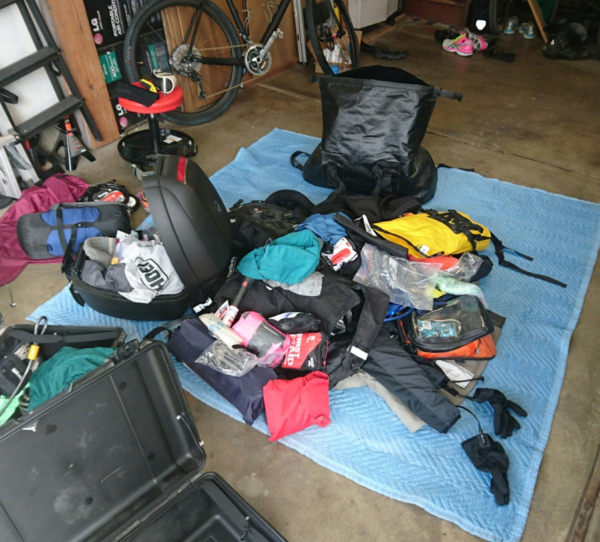 Death Valley Preparation 1:  Packing for Bicycle/Motorcycle Adventuring