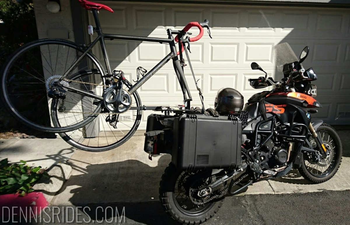 Why motorcycle with abicycle?